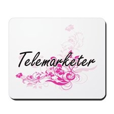Telemarketer Artistic Job Design with Fl Mousepad