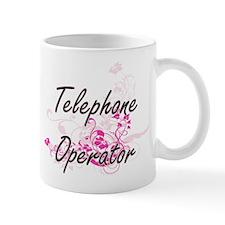 Telephone Operator Artistic Job Design with F Mugs