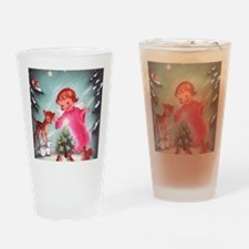 Vintage Christmas Image 4 Drinking Glass