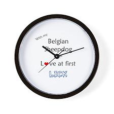 BelgianSheep Lick Wall Clock