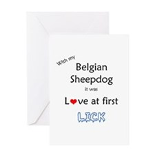 BelgianSheep Lick Greeting Card