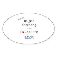 BelgianSheep Lick Oval Decal