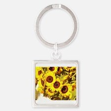 sunflowers on a warm day Keychains