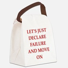 Funny Defeat Canvas Lunch Bag