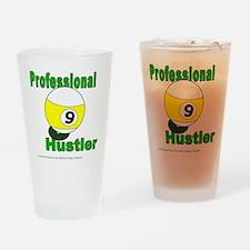 Pro 9 Ball Pool Hustler Drinking Glass
