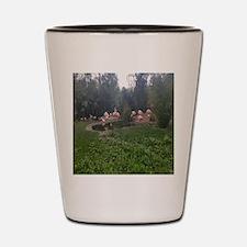 Cute Outdoor flamingo Shot Glass