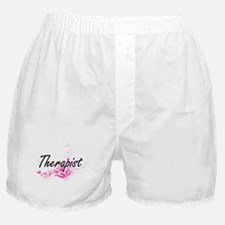 Therapist Artistic Job Design with Fl Boxer Shorts