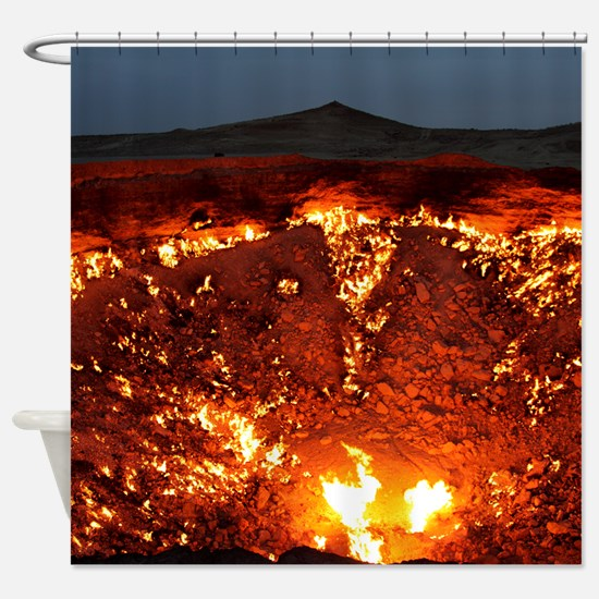 DOOR TO HELL Shower Curtain