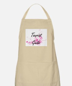 Tourist Guide Artistic Job Design with Flowe Apron