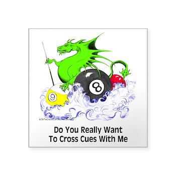 Playing Dragon Sticker by OTC Billiards Designs