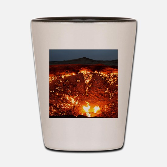 DOOR TO HELL Shot Glass