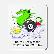 Cross Cues Pool Playing Dragon Mousepad
