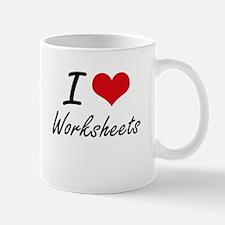I love Worksheets Mugs