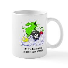Cross Cues Pool Playing Dragon Small Mug