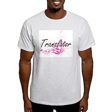 Translator Artistic Job Design with Flower T-Shirt