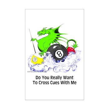 Cross Cues Pool Playing Dragon