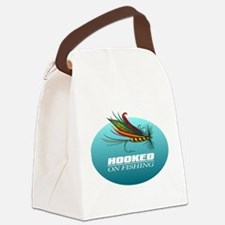Hooked On Fishing (Fly) Canvas Lunch Bag