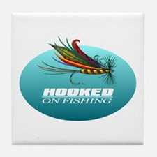 Hooked On Fishing (Fly) Tile Coaster