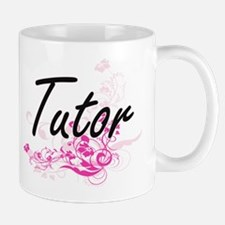 Tutor Artistic Job Design with Flowers Mugs