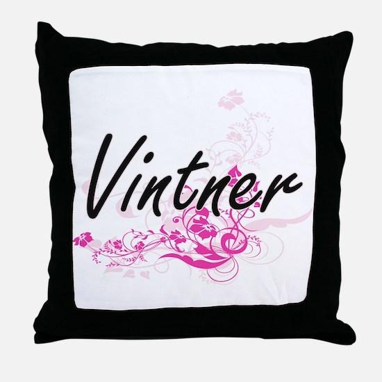 Vintner Artistic Job Design with Flow Throw Pillow