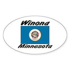 Winona Minnesota Oval Decal