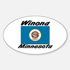 Winona Minnesota Oval Decal