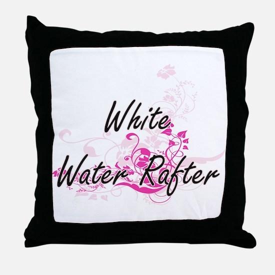 White Water Rafter Artistic Job Desig Throw Pillow