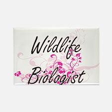 Wildlife Biologist Artistic Job Design wit Magnets