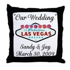 Sandy Jay Personalized Wedding Throw Pillow