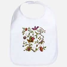 Tree of Life Jacobean Embroidery Bib