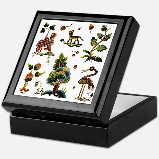 Castlemaine Jacobean Embroidery Keepsake Box