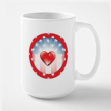 PATRIOTIC HEARTS Mug