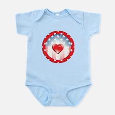 PATRIOTIC HEARTS Infant Bodysuit