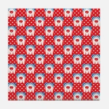 PATRIOTIC HEARTS Tile Coaster