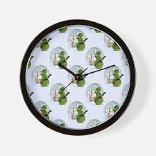 snowman army christmas Wall Clock