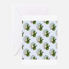 snowman army christmas Greeting Cards