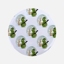 """snowman army christmas 3.5"""" Button (100 pack)"""
