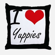I love Yuppies Throw Pillow