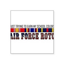 "Cute Air force rotc Square Sticker 3"" x 3"""