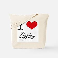 I love Zipping Tote Bag