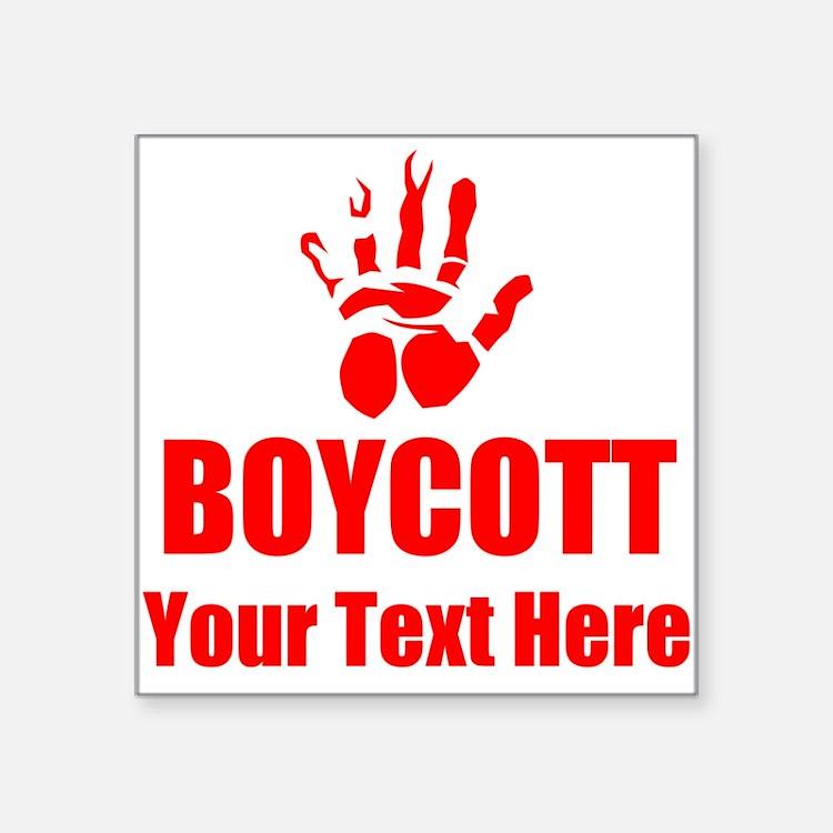 Boycott Sticker
