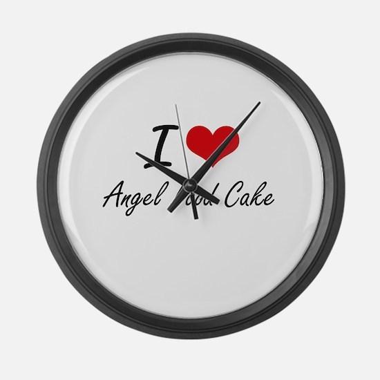 I love Angel Food Cake Large Wall Clock