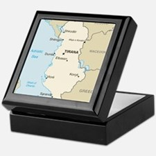Albanian Map Keepsake Box