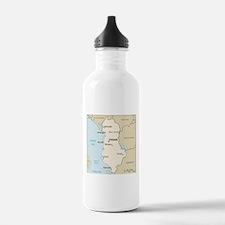 Albanian Map Water Bottle