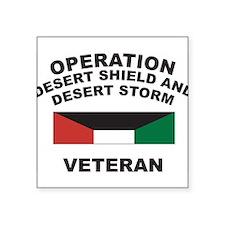"""Unique Military veteran Square Sticker 3"""" x 3"""""""