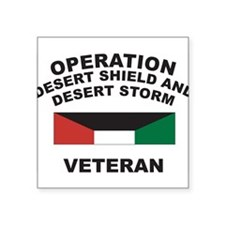 "Cute Desert storm Square Sticker 3"" x 3"""