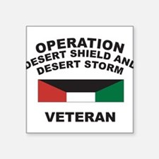 "Funny Desert storm Square Sticker 3"" x 3"""