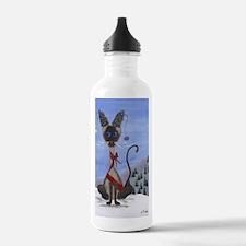 Funny Oriental cat Water Bottle