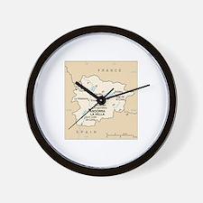 Andorra Map Wall Clock