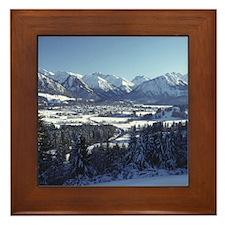 SNOWY MOUNTAINS Framed Tile